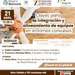 Madrid Network: Webinar sobre Integración y Alineamiento de Equipos en Entornos Convulsos